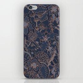 Blue and Gold Jungle iPhone Skin