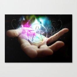 Magickal flaming pentacle Canvas Print