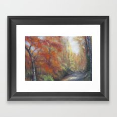 Fall Walk Framed Art Print