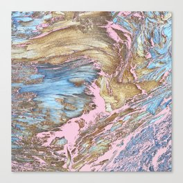 Woody Pink Canvas Print