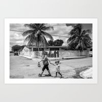 Tulum girls Art Print
