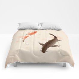 Yin Yang Koi fishes 001 Comforters