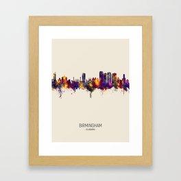 Birmingham Alabama Skyline Framed Art Print