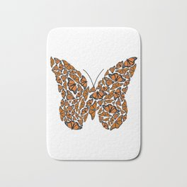Monarch Butterfly made up from Monarch Butterlies Bath Mat
