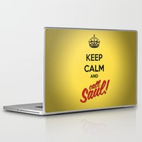better call saul Laptop & iPad Skins featuring Keep Calm and Call Saul | Better Call Saul | Breaking Bad | Saul Goodman by Tom Storrer
