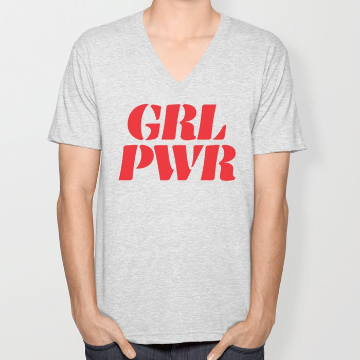 Girl Power GRL PWR Unisex V-Neck