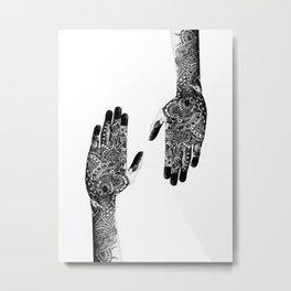 Stay Connected Metal Print