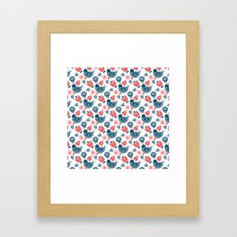 Hygge Pattern Framed Art Print