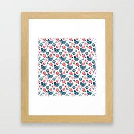Hygge Pattern Framed Art Print