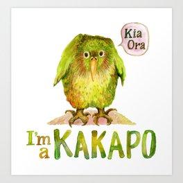 I'm a KAKAPO Art Print