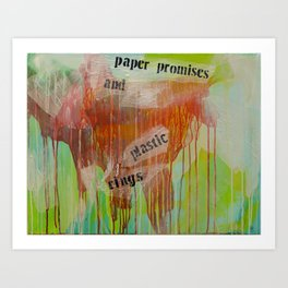 the weight of paper Art Print