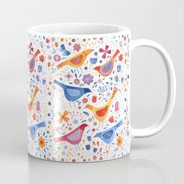 Birds in a Garden Coffee Mug