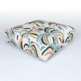 Rainbow Palm Outdoor Floor Cushion