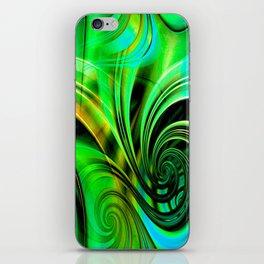 Curls Deluxe Green iPhone Skin