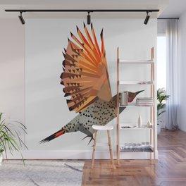 Flying bird Flicker Geometric Nature Wall Mural