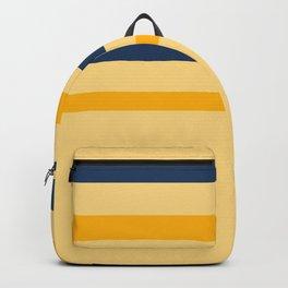 Yellow  blue  stripes  horizontal Backpack