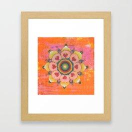 Mandalaneon Framed Art Print