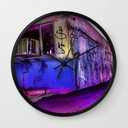 Light Painted Mobile Home Wall Clock