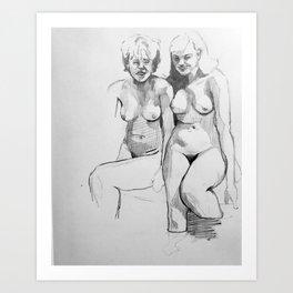 Women Wading Art Print