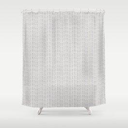 Seamless french farmhouse woven linen stripe texture.  Shower Curtain
