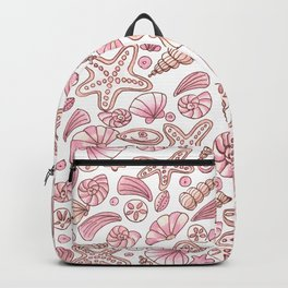 Millennial pink seashells Backpack