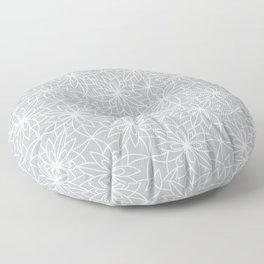 Gray Floral Floor Pillow