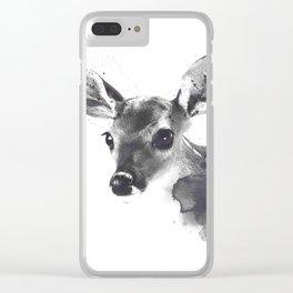 Watercolor Deer Clear iPhone Case