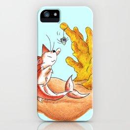 Coral Cat Tree iPhone Case