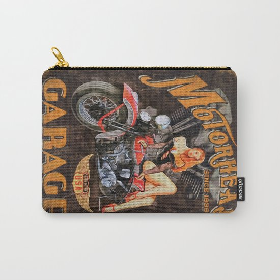 Motorhead Garage Vintage Poster Carry-All Pouch