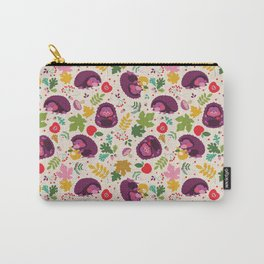 Hedgehog Print Carry-All Pouch