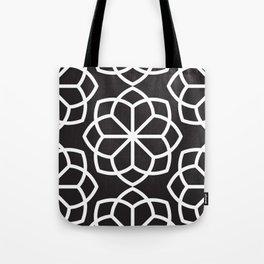 Asian Flower Pattern Tote Bag