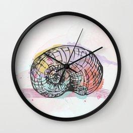 AP098 Watercolor snail shell Wall Clock