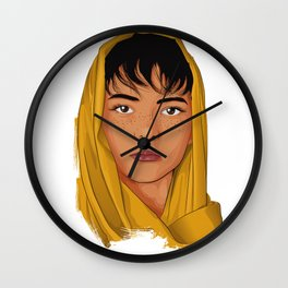 The Girl with the Yellow Scarf - Mona Lala Wall Clock