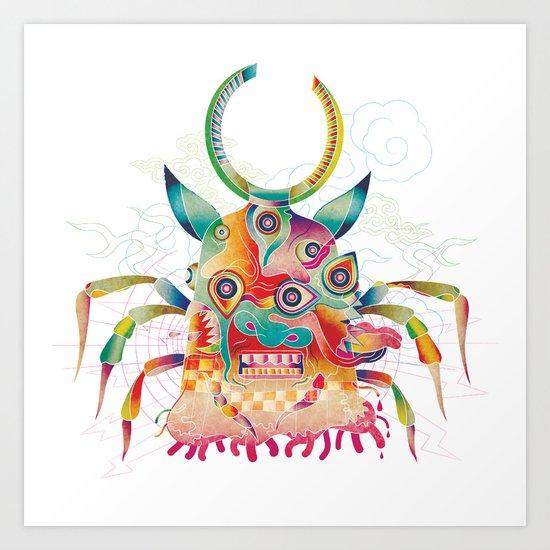 Ushioni - Demoncow Art Print