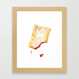 Watercolor Strawberry Pop Tart Framed Art Print