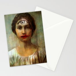 The girl with on eye Stationery Cards