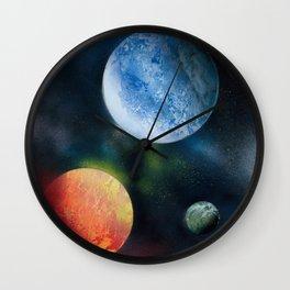 Celestial Triad Wall Clock