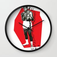 ali Wall Clocks featuring Ali by Dayle Kornely
