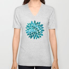 Agate sea green texture Unisex V-Neck
