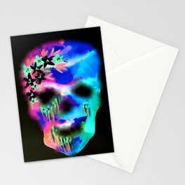 Watercolour Skull Stationery Cards