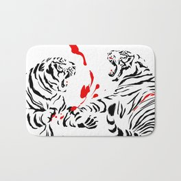 Tora Tora! // (tiger fight) Bath Mat