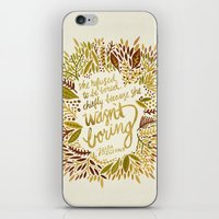 fitzgerald iPhone & iPod Skins featuring Zelda Fitzgerald – Fall Palette by Cat Coquillette