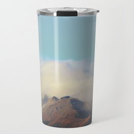 Sun kissed summit in the clouds Travel Mug