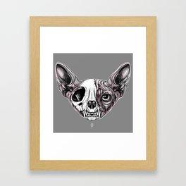Shynx Half Skull Framed Art Print