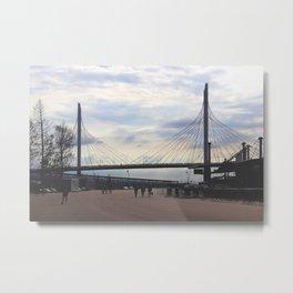 Zsd road bridge above Neva river Metal Print