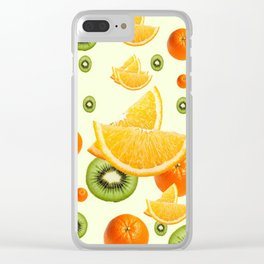 TROPICAL KIWI-ORANGES KITCHEN ART Clear iPhone Case