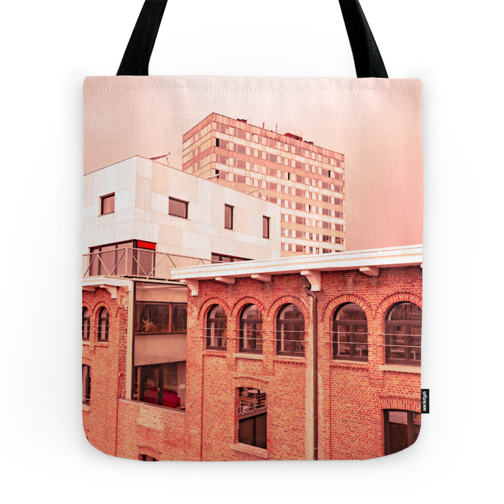 Red City Buildings Tote Purse by popartimages (TBG9871653) photo