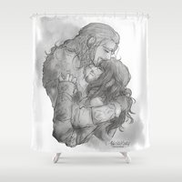 fili Shower Curtains featuring Tears by AlyTheKitten