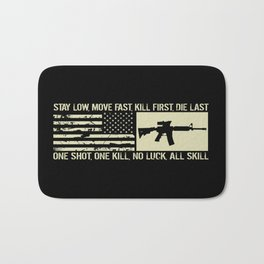 M4 Assault Rifle & Tactical Flag Bath Mat