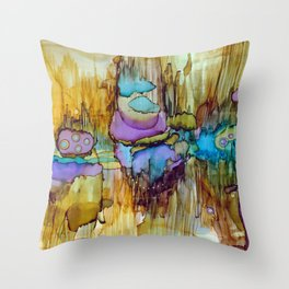 Cosmic Resonance Throw Pillow